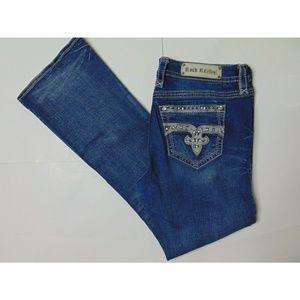 Rock Revival 32 Haine Easy Boot Blue Jeans Denim
